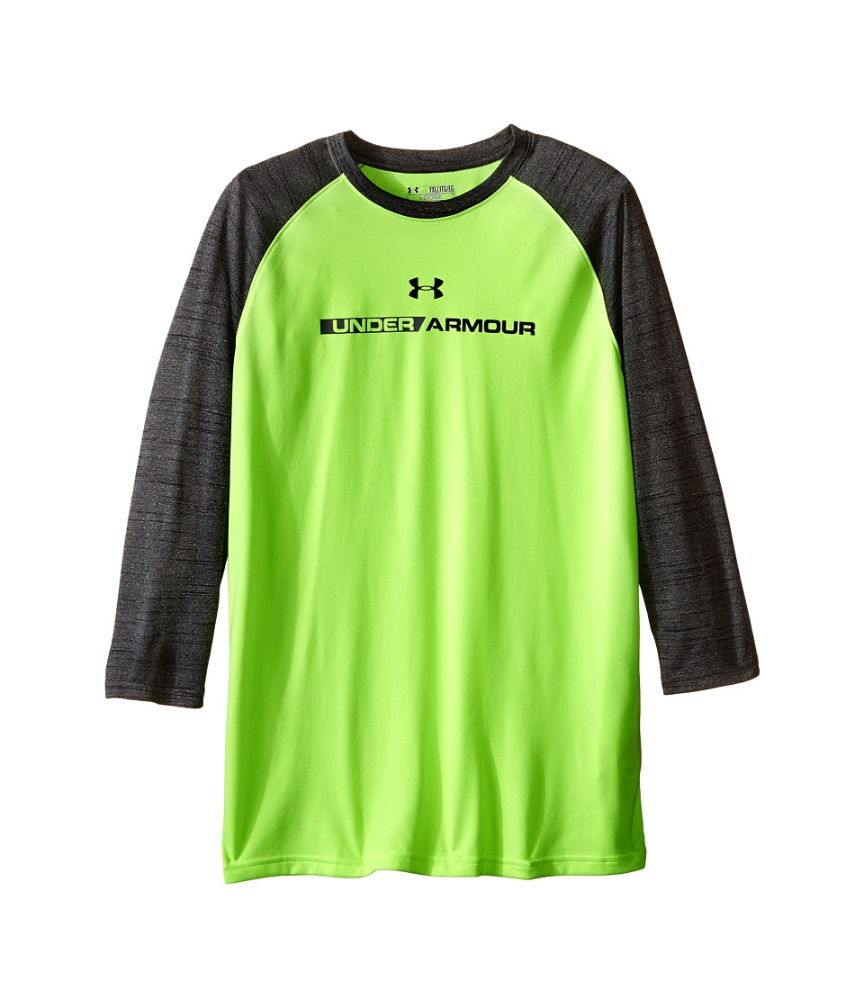 Under Armour Kids - UA Tech Prototype 3/4 Sleeve (Big Kids) (Fuel Green/Black) Boy's Clothing