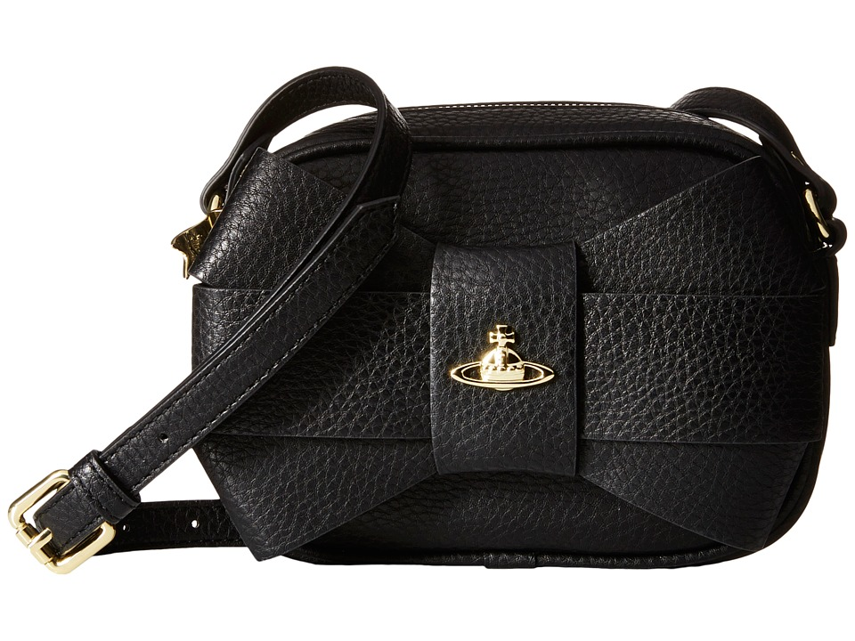 Vivienne Westwood - Bow Crossbody (Black) Cross Body Handbags