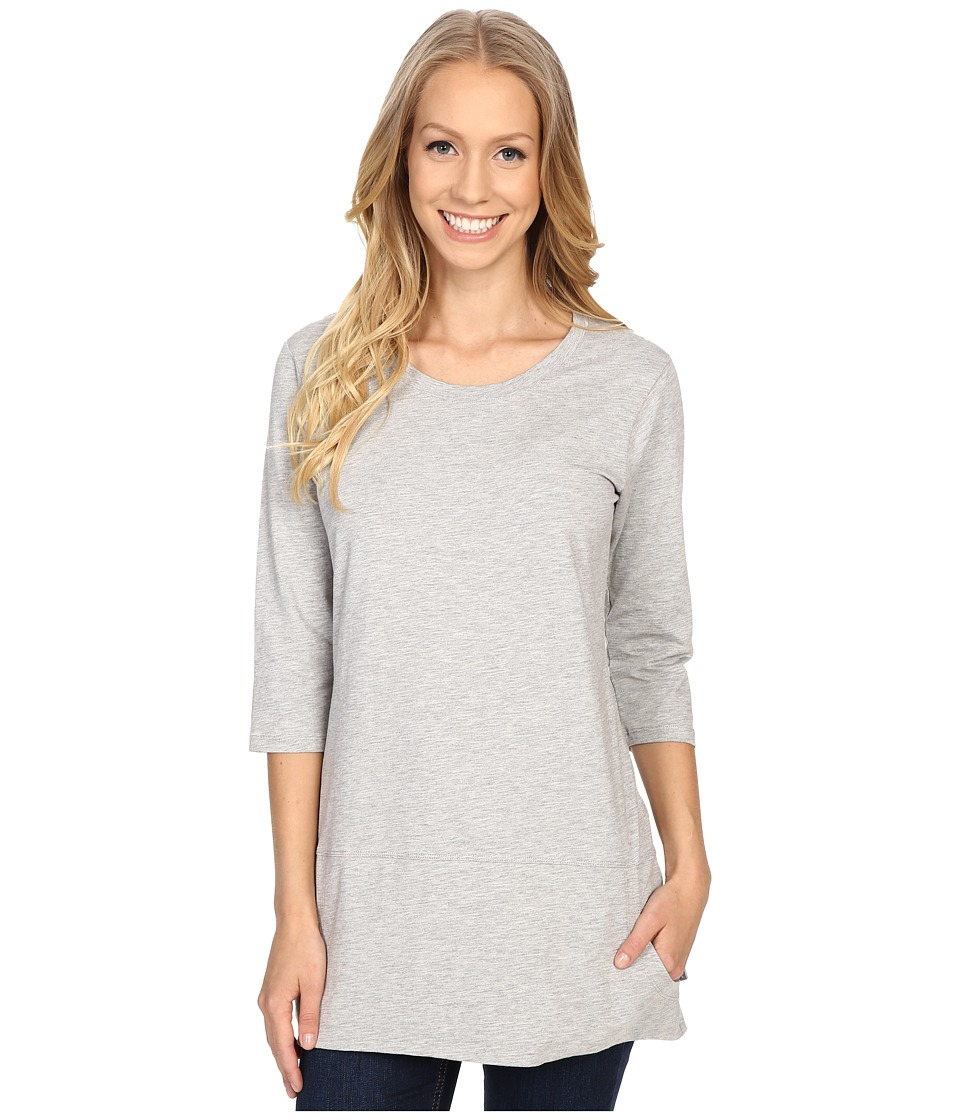 Toad&Co - Ursa Three-Quarter Sleeve Tunic (Heather Grey) Women's Short Sleeve Pullover