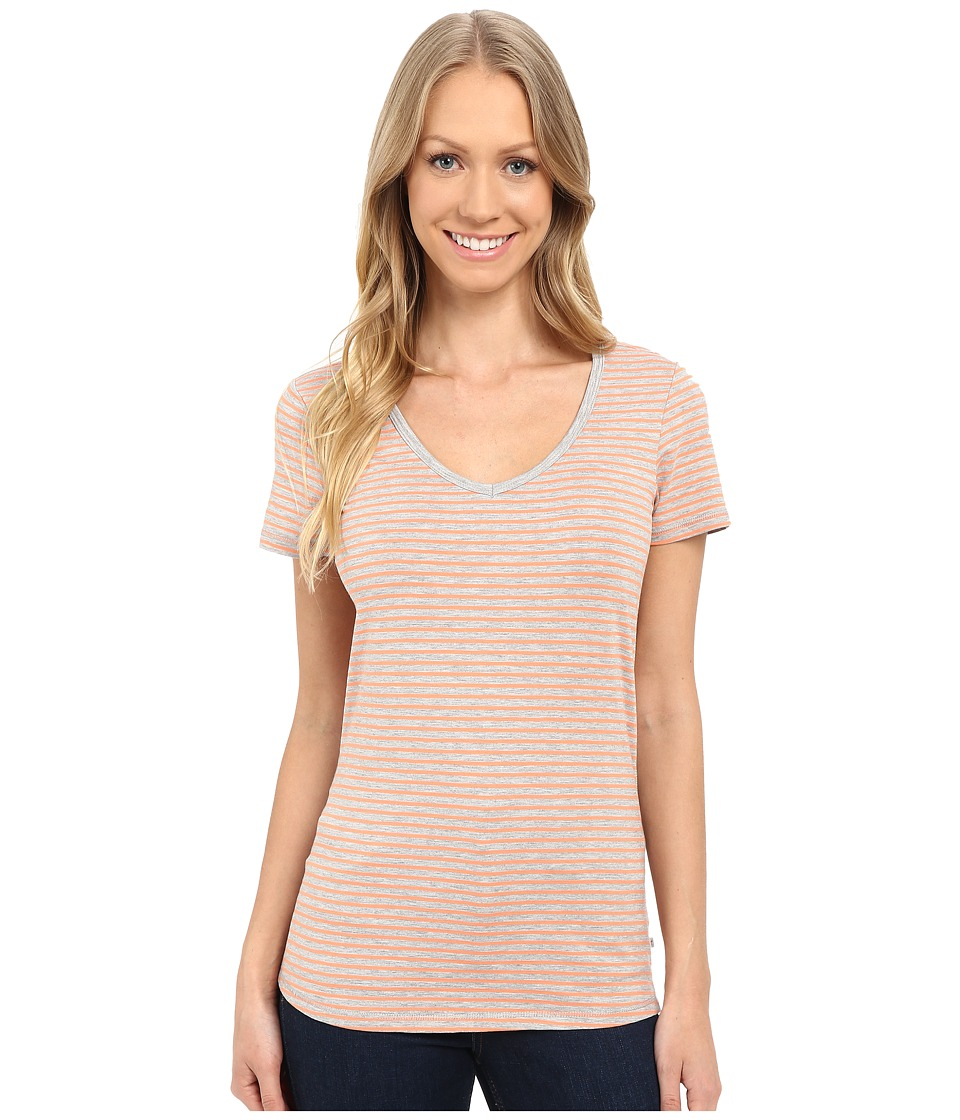Toad&Co - Marley S/S Tee (Melon Stripe) Women's Short Sleeve Pullover