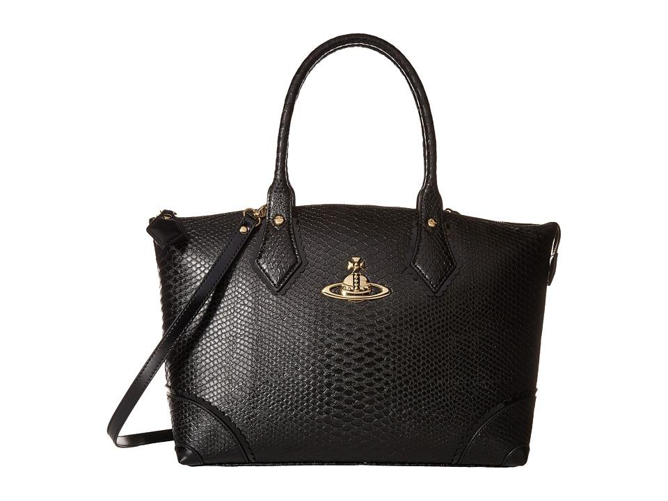 Vivienne Westwood - Frilly Snake Tote (Black) Tote Handbags