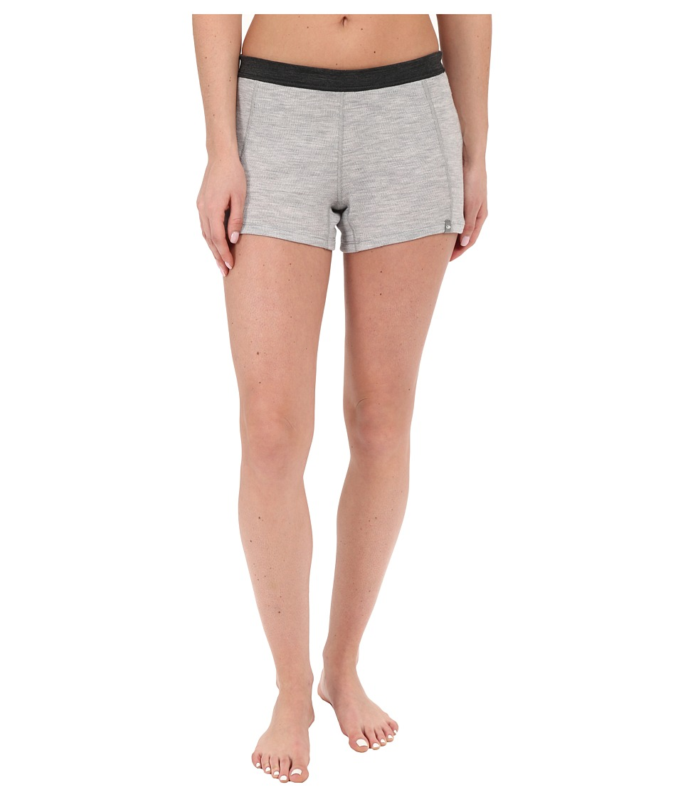 Icebreaker Butter Rib Hot Pants (Blizzard Heather/Jet Heather/Black) Women