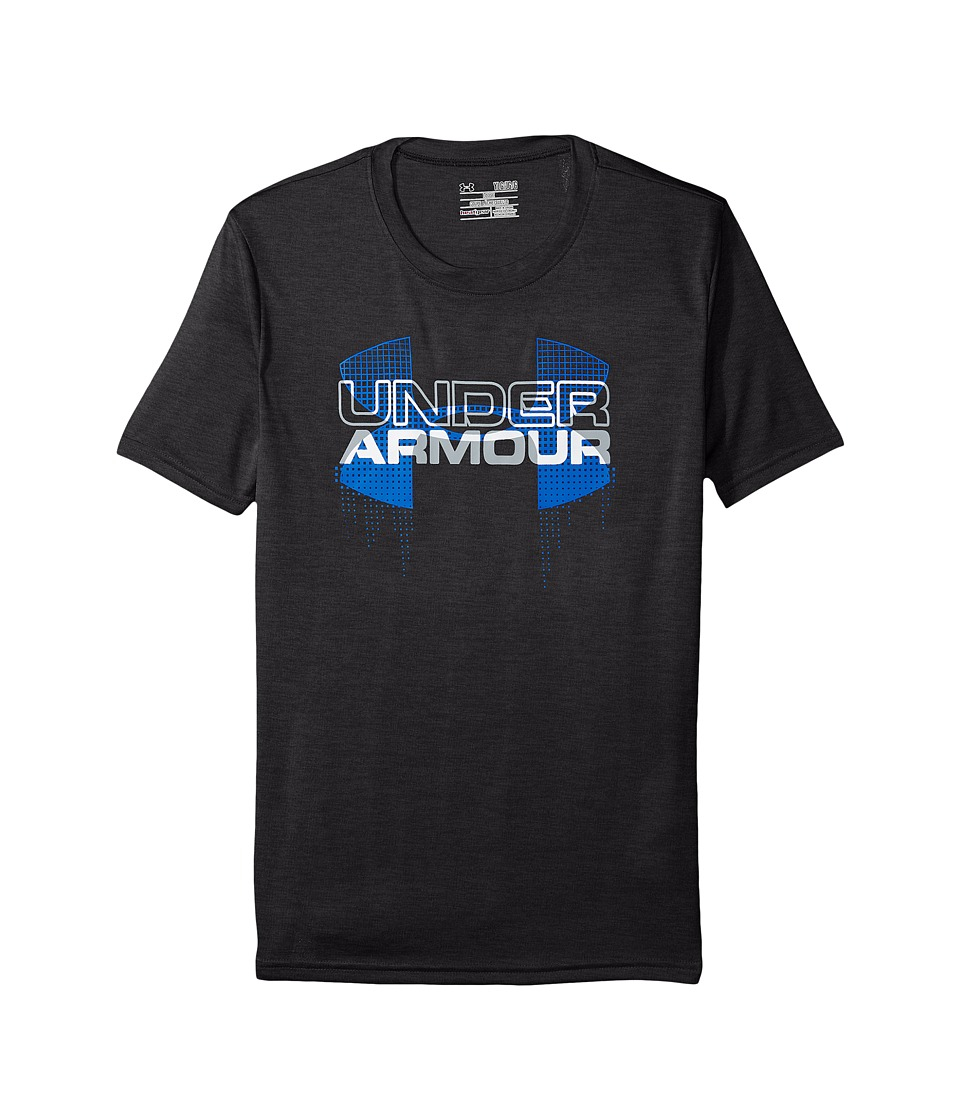 Under Armour Kids - Big Logo Hybrid Short Sleeve Tee (Big Kids) (Black/Ultra Blue) Boy's T Shirt