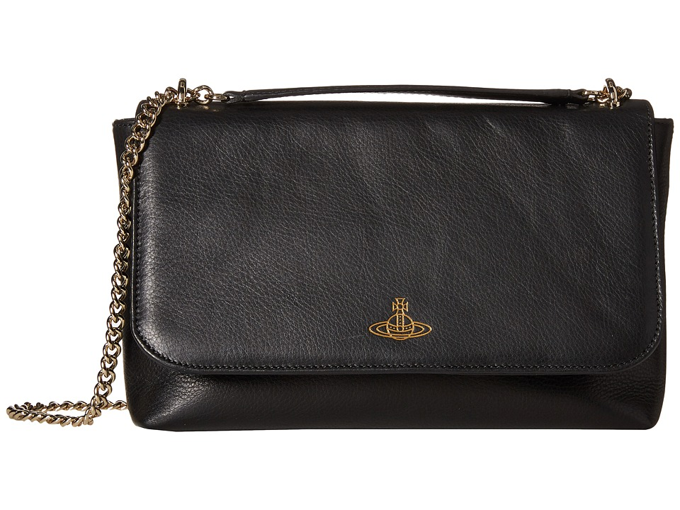 Vivienne Westwood - Spencer Convertible w/ Chain (Black) Convertible Handbags