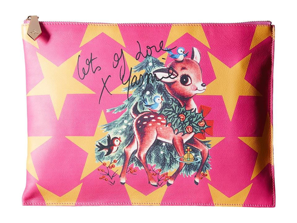 Vivienne Westwood - Printed Large Pouch Reindeer (Multi) Clutch Handbags