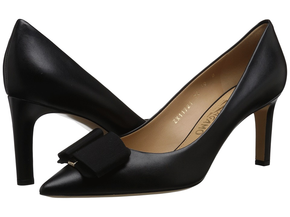 Salvatore Ferragamo - Mimi (Nero Nappa) Women's Dress Flat Shoes