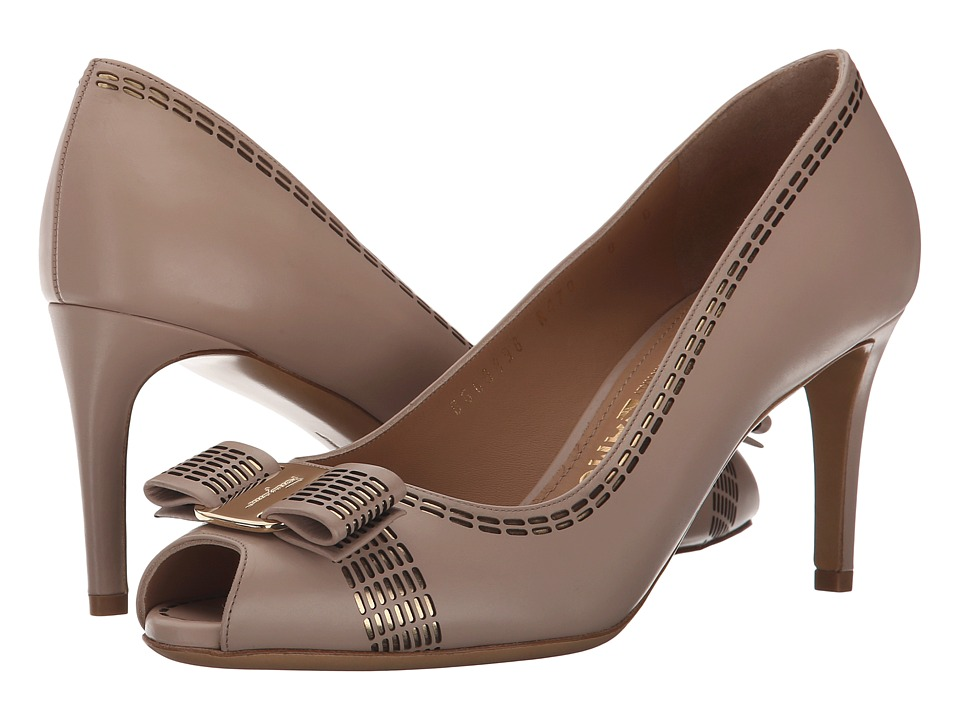 Salvatore Ferragamo - Pola (New Bisque Rubens Calf) High Heels
