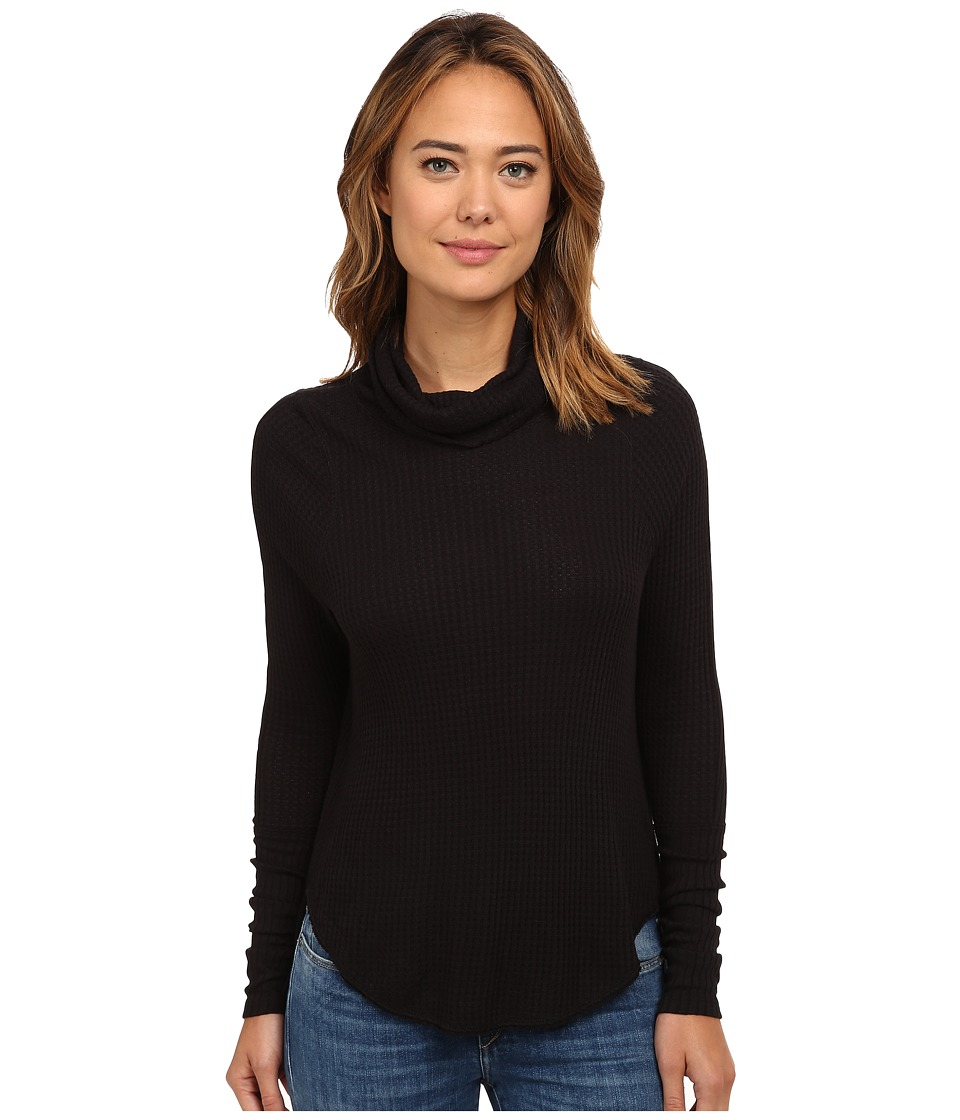 Free People - Drippy Thermal Kristina (Black) Women's Clothing