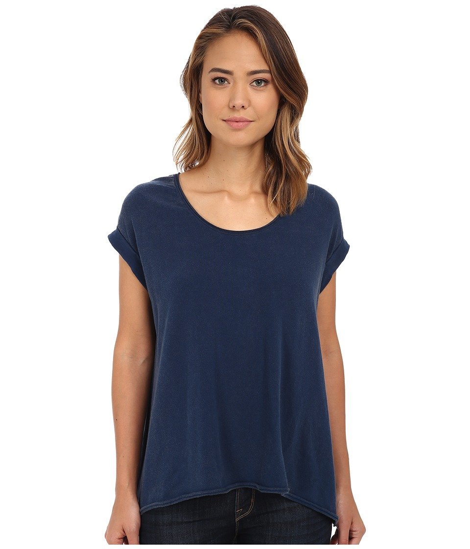 Free People - Super Cycle Jersey Kristin Tee (Ink Blue) Women