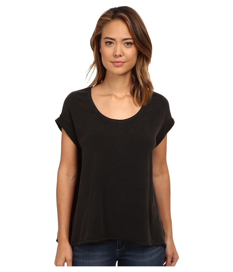 Free People - Super Cycle Jersey Kristin Tee (Black) Women's T Shirt