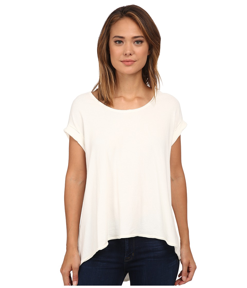 Free People - Super Cycle Jersey Kristin Tee (White) Women