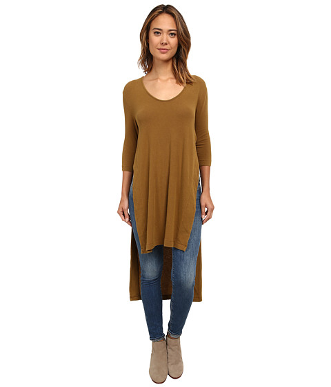 Free People - Super Cycle Jersey Bad Girls Tunic (Mineral Green) Women