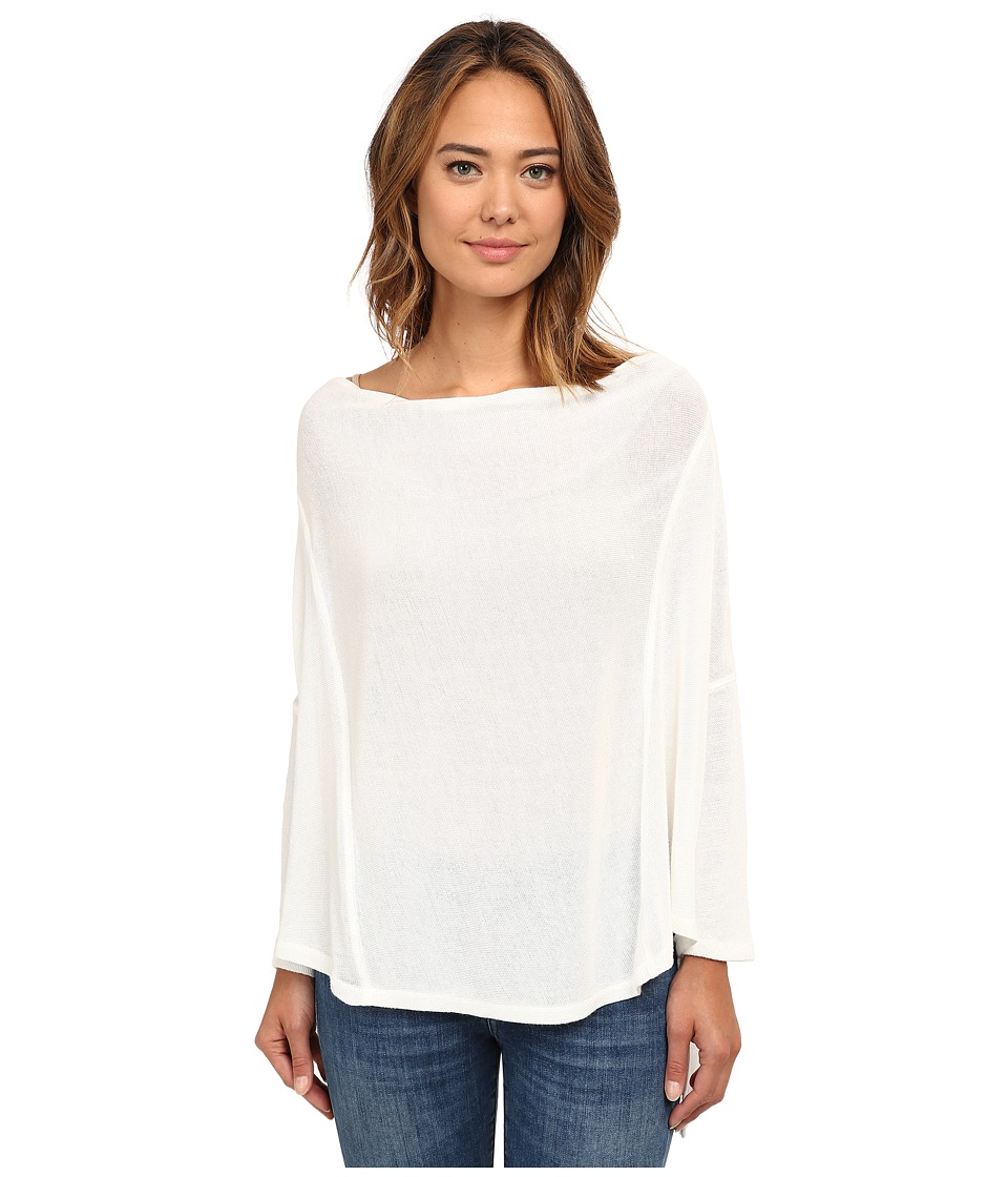Free People - Limitless Swit Jersey Lucky Day Wrapped Tee (White) Women