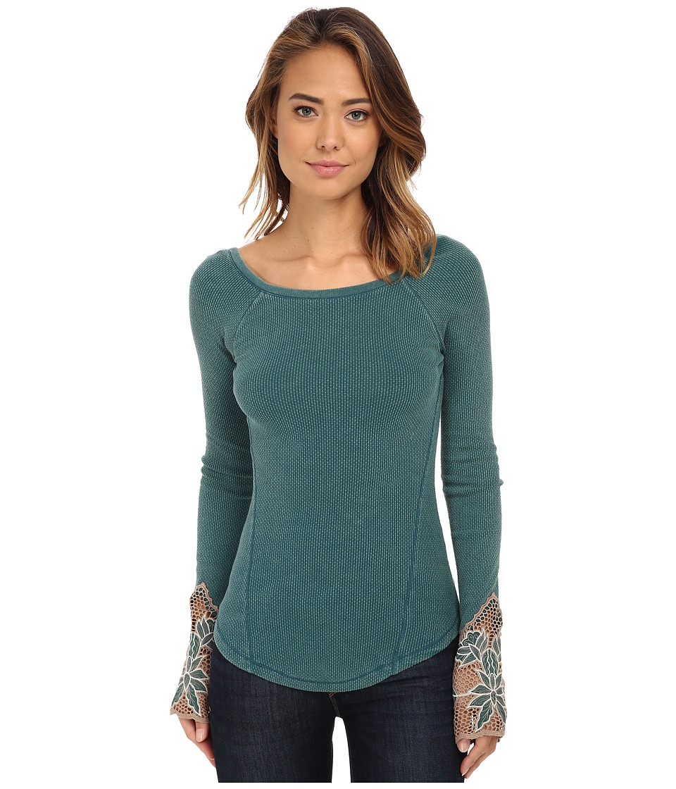 Free People - Newbie Thermal Bali Babe Cuff (Jade) Women's Clothing