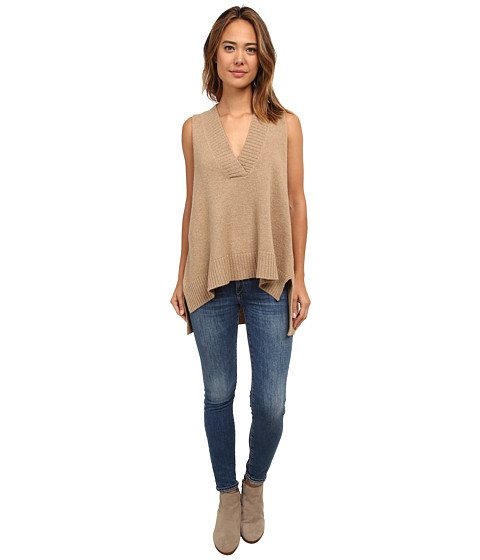 Free People - Lambswool Swing Vest (Oatmeal) Women's Sweater