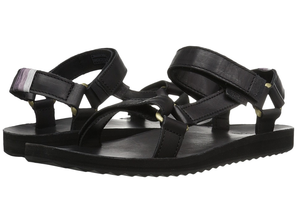 Teva Original Universal Crafted Leather (Black) Women