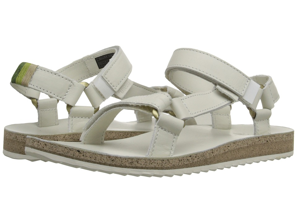 Teva Original Universal Crafted Leather (White) Women