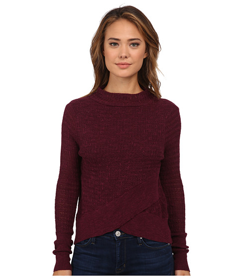 Free People - Boho Wrap Sweater (Plum) Women's Sweater