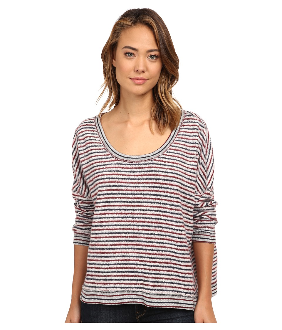 Free People - Little Ann Striped Pullover (Grey Combo) Women's Sweater