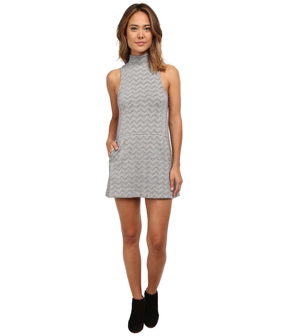 Free People - Chevron Duofold Twiggy Shift Dress (White Combo) Women's Dress