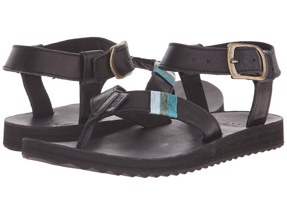 Teva - Original Sandal Crafted Leather (Black) Women's Sandals
