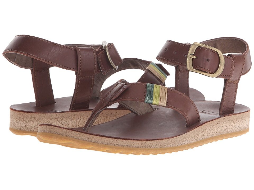 Teva Original Sandal Crafted Leather (Brown) Women