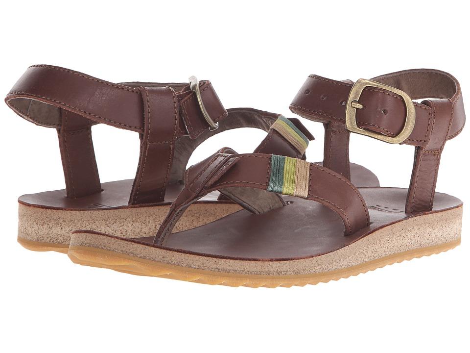 Teva Original Sandal Crafted Leather (Brown) Women