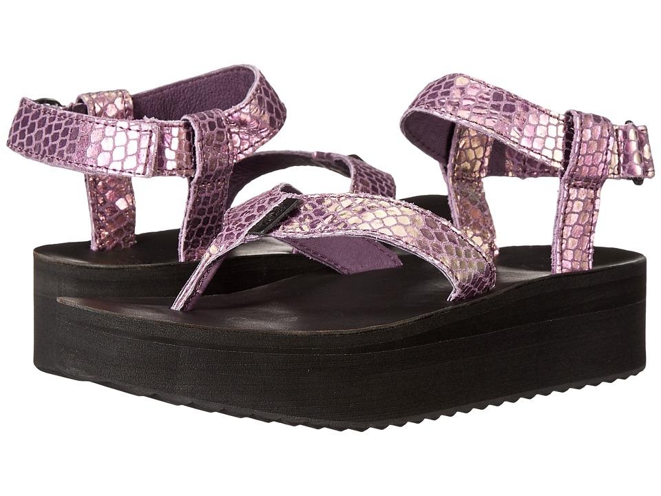 Teva - Flatform Sandal Iridescent (Plum) Women's Sandals