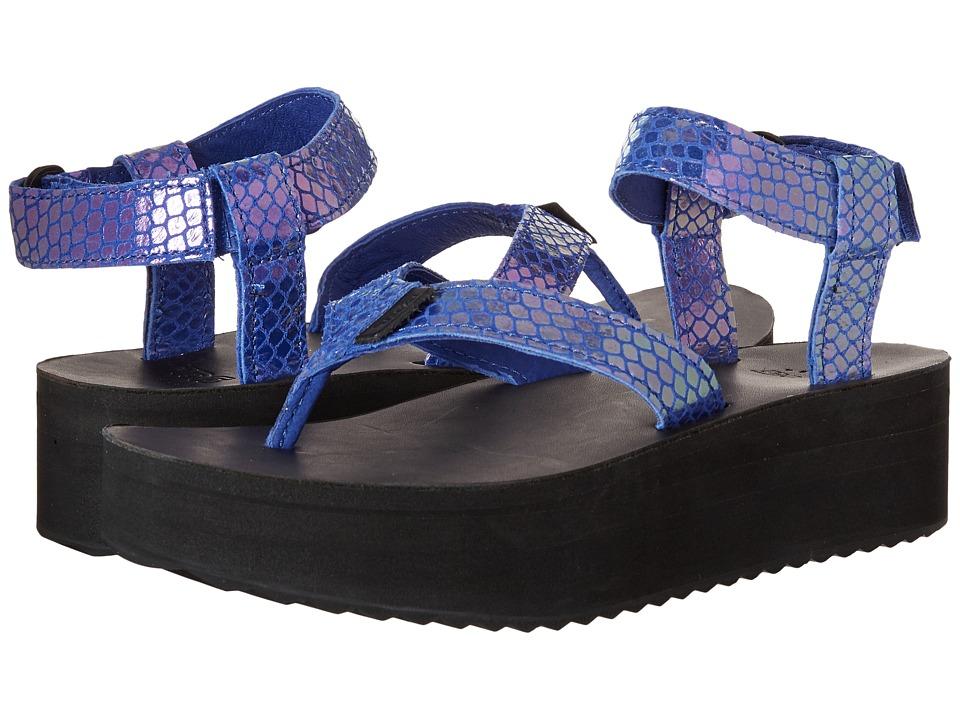 Teva Flatform Sandal Iridescent (Blue) Women