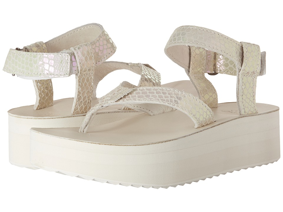 Teva - Flatform Sandal Iridescent (White) Women's Sandals