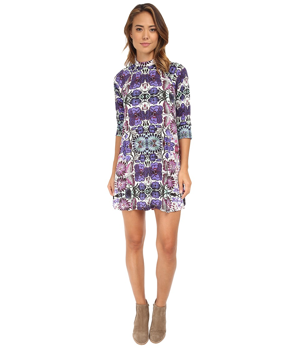 Free People - Rayon Interlock Fiesta Floral Dress (White Combo) Women's Dress