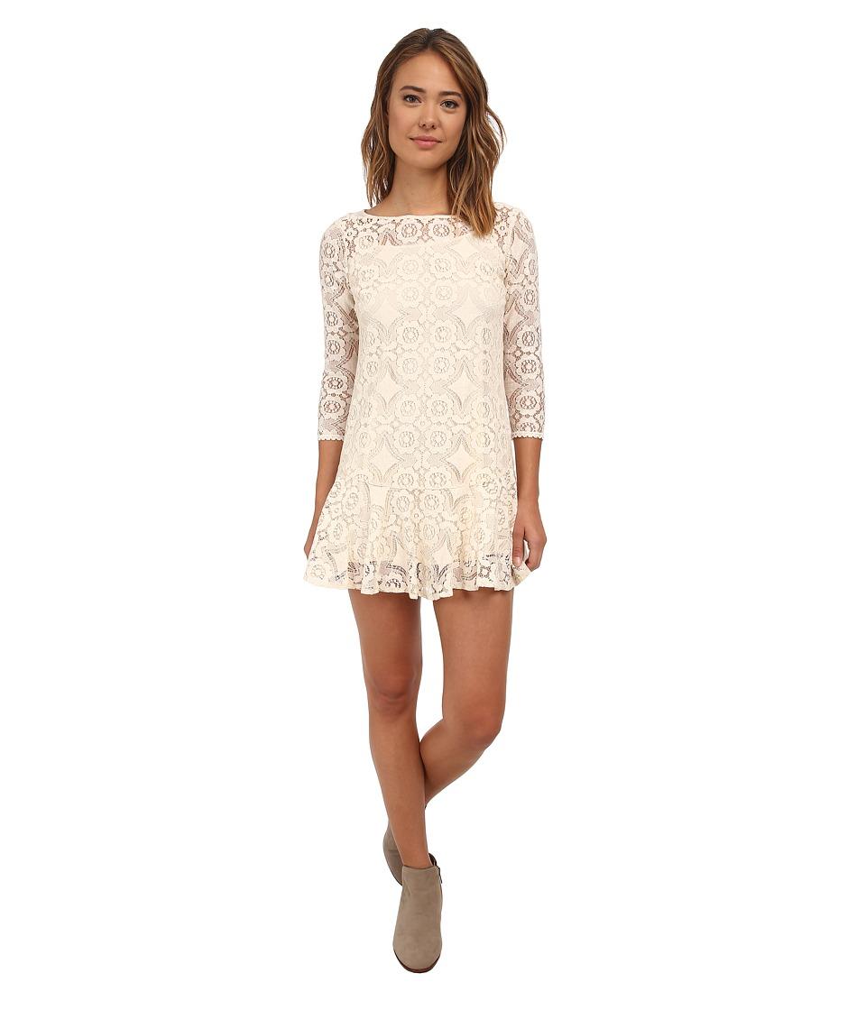 Free People - Cross Dye Lace Walking To The Sun (Cream) Women's Dress