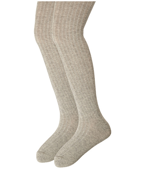 Jefferies Socks - Cotton Rib Tights 2-Pack (Toddler/Little Kid/Big Kid) (Grey/Grey) Hose