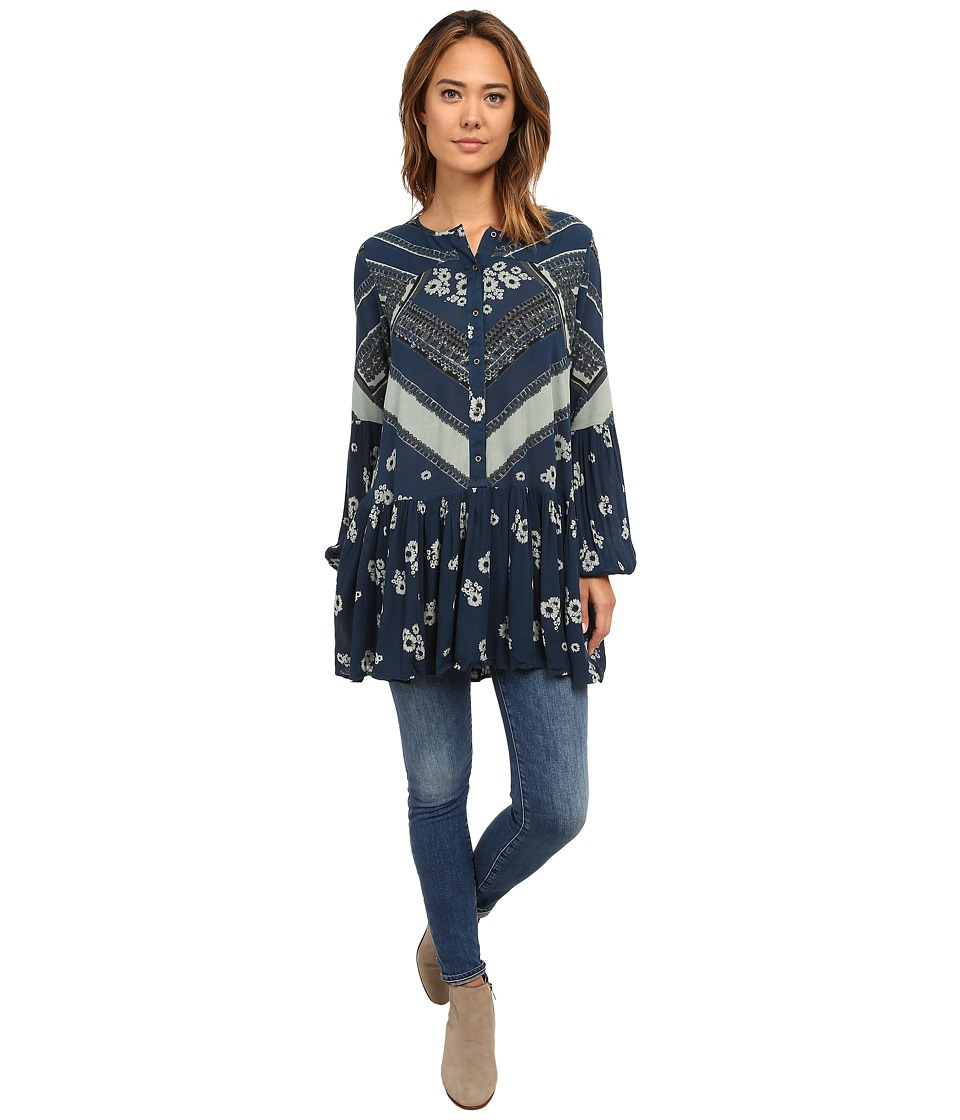 Free People - Printed Rayon Gauze From Your Heart Dress (Peacock Combo) Women's Dress