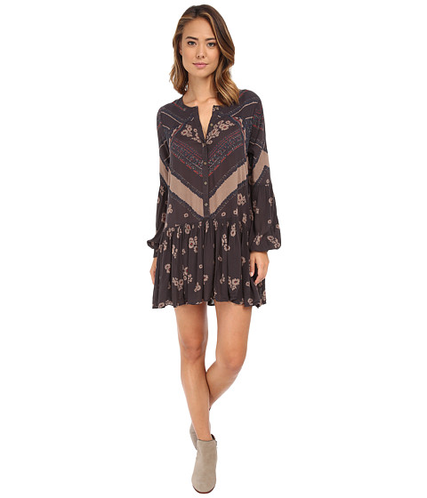 Free People - Printed Rayon Gauze From Your Heart Dress (Midnight Combo) Women's Dress