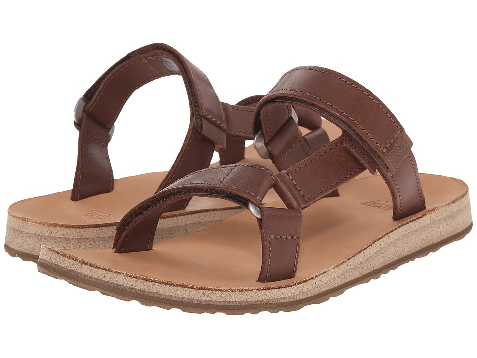 Teva - Universal Slide Leather (Brown) Women's Sandals