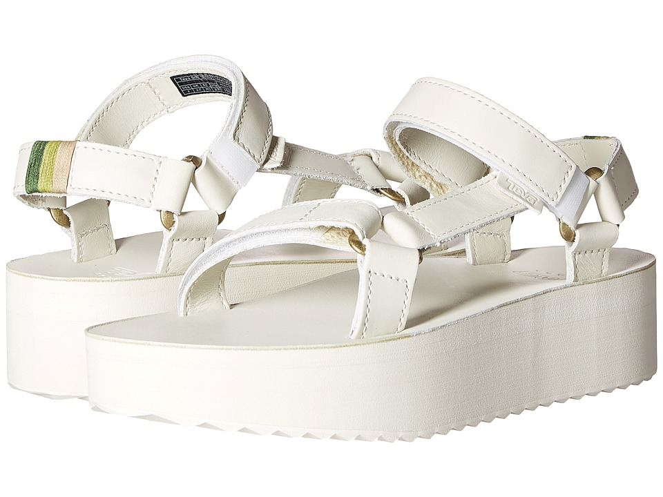 Teva - Flatform Universal Crafted (White) Women's Shoes