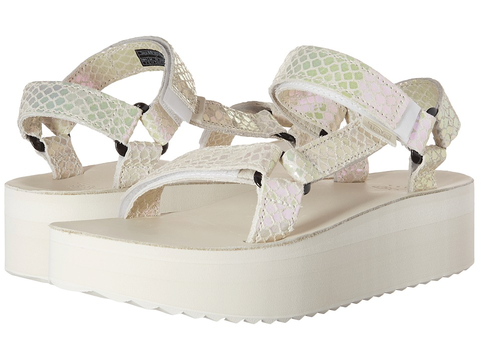 Teva - Flatform Universal Iridescent (White) Women's Shoes
