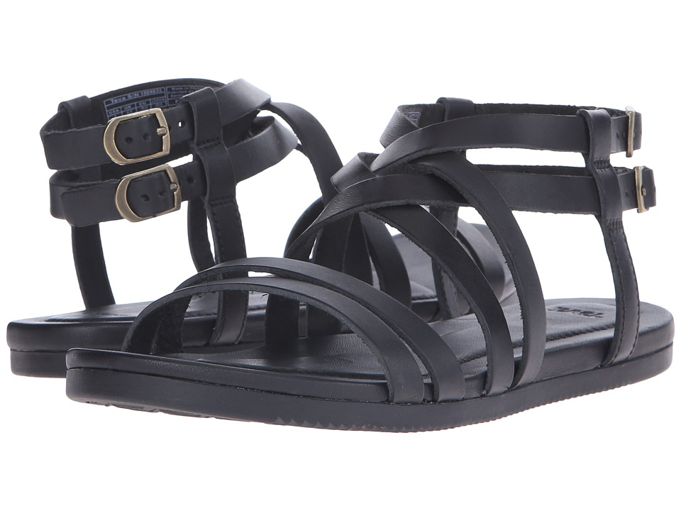 Teva - Avalina Crossover Leather (Black) Women's Shoes