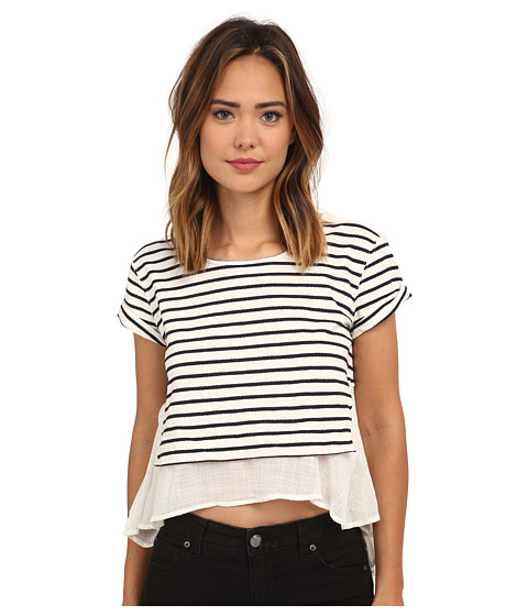 Free People - French Kiss Tee (Navy Combo) Women's Clothing