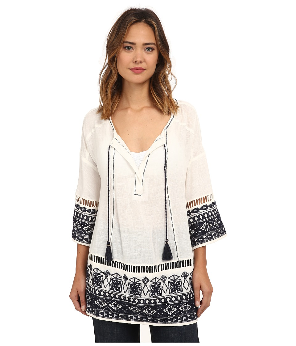 Free People - Cotton Noyal Counting Stars Tunic (Ivory Combo) Women's Clothing