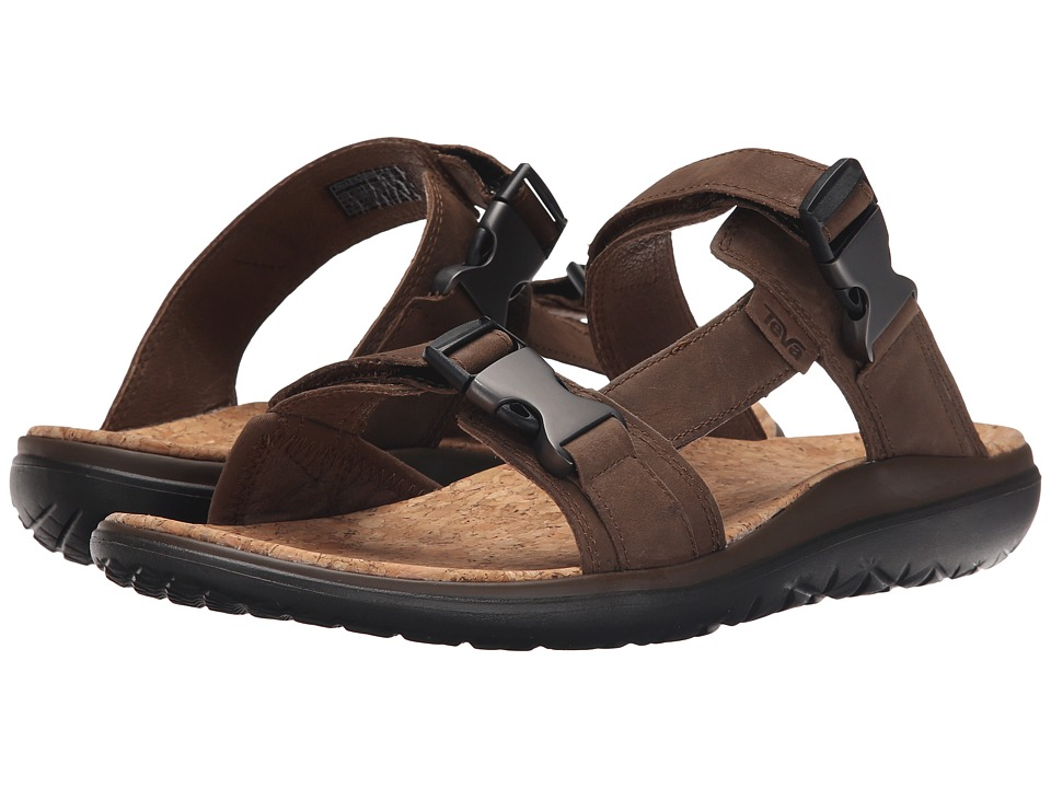 Teva - Terra-Float Slide Lux (Dark Earth) Men's Sandals