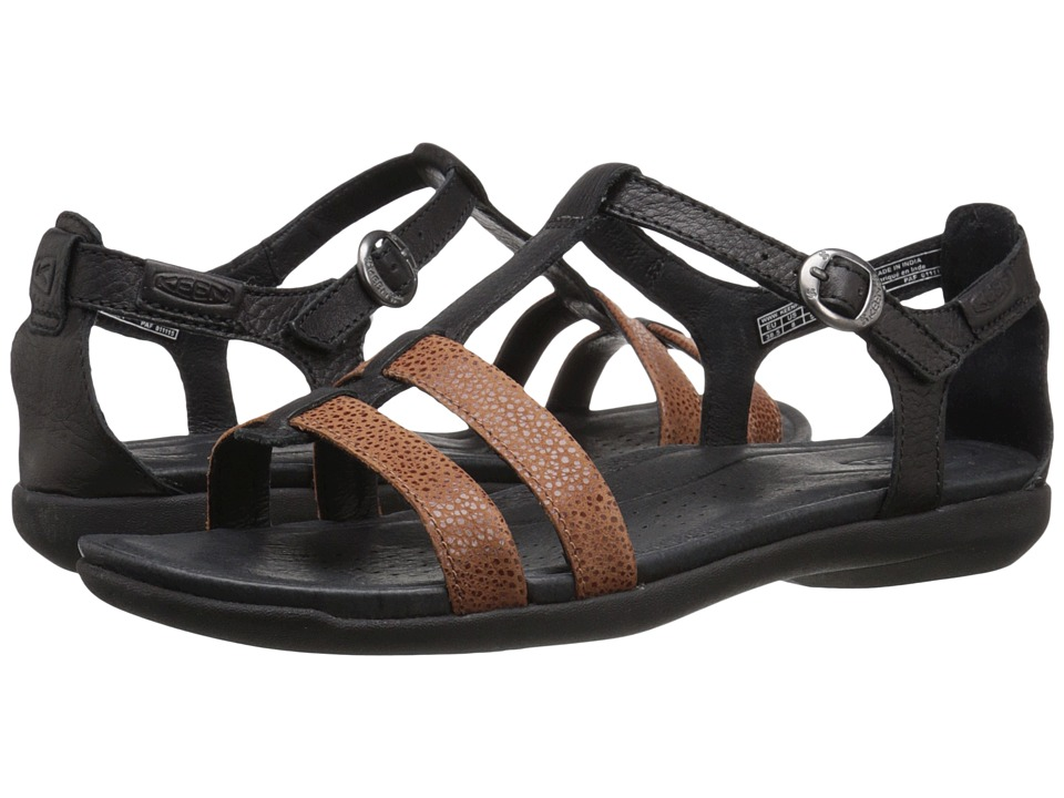Keen - Rose City T-Strap (Black/Tortoise Shell) Women's Shoes