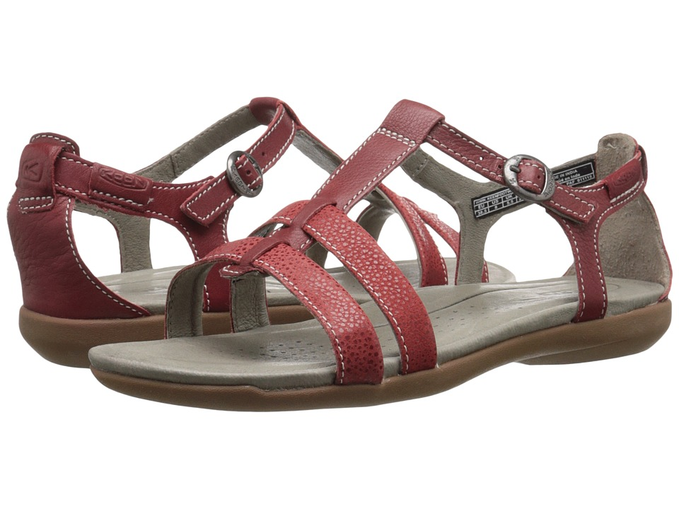 Keen - Rose City T-Strap (Red Dahlia) Women's Shoes