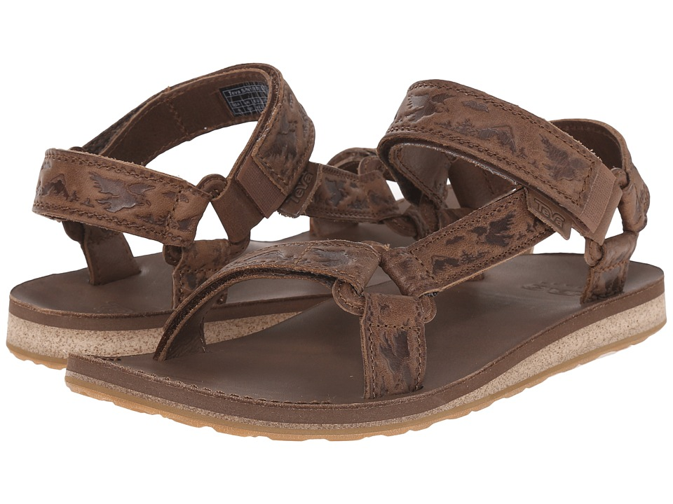 Teva - Original Universal Crafted Leather (Brown) Men's Shoes