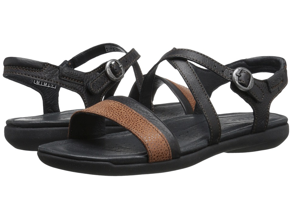 Keen - Rose City Sandal (Black/Tortoise Shell) Women's Sandals