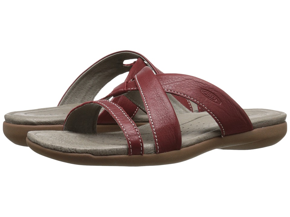 Keen Rose City Slide (Red Dahlia) Women