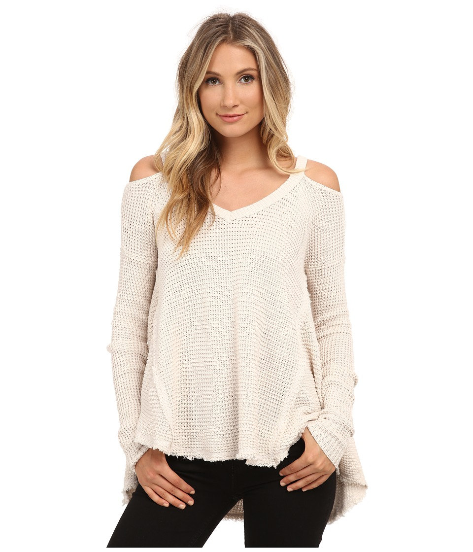 Free People - Moonshine V-Neck (Cream) Women's Sweater