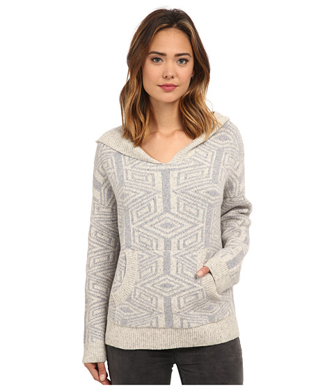 Free People - Six Degrees Pattern Hoodie (Grey/Ivory Combo) Women