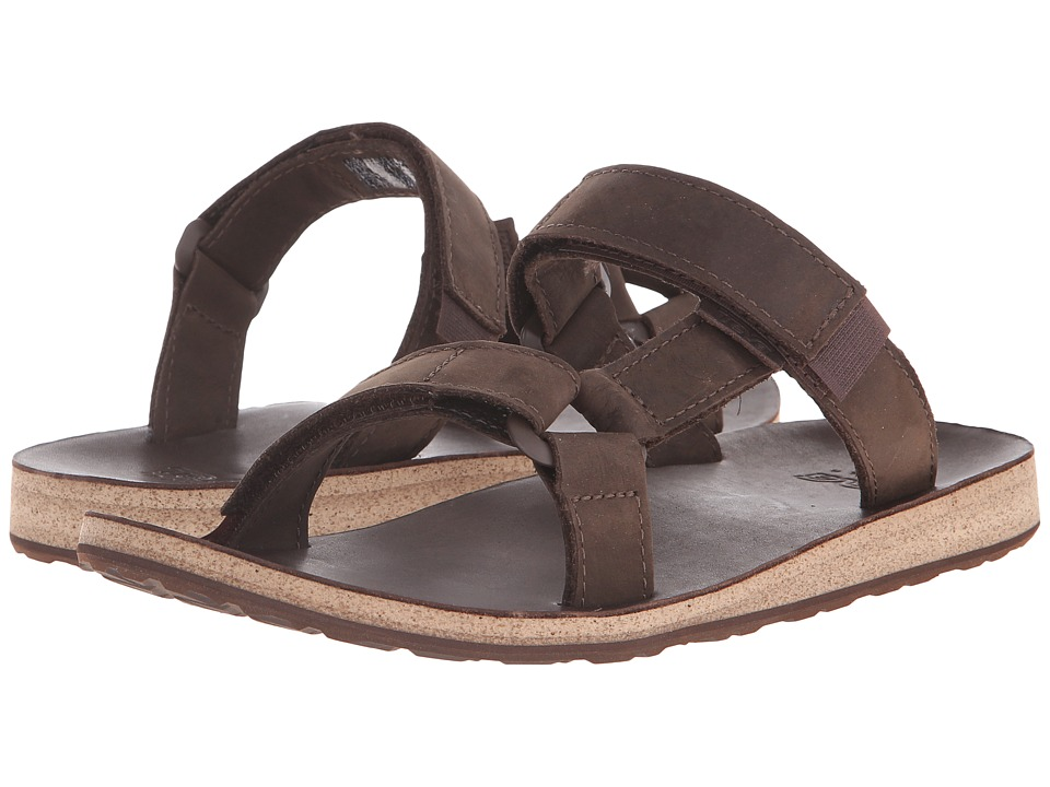 Teva - Universal Slide Leather (Brown) Men's Sandals